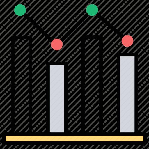analytical chart, bar chart, chart analysis, finance report, point chart icon