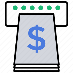 atm machine, cash, money, money retrieval, withdrawing money icon