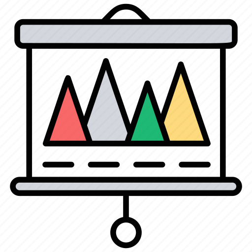 business statistics, data compilation, observing growth, statistics, studying charts icon
