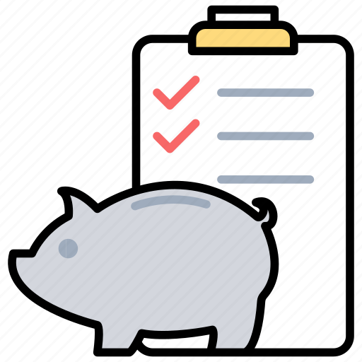financial planning, life insurance, piggy bank, saving accounts, saving funds icon