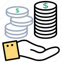 earnings, monthly income, paycheck, personal incomes, personal savings icon
