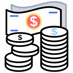 budget, income, managing funds, monthly income, savings accounts icon