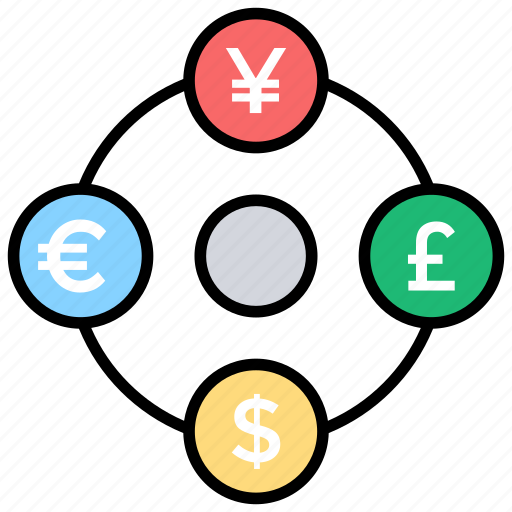 Currency Exchange Foreign International Transaction Money Transfer Icon