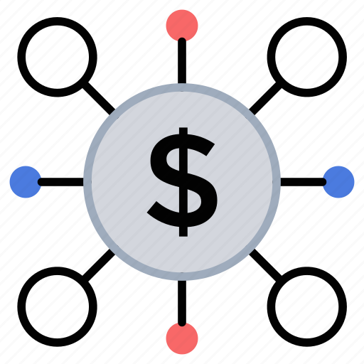 business banking, crowdfunding, crowdsourcing, fundraising, multiple fundings icon