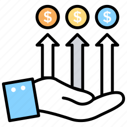 business growth, financial growth, financial stability, managing business, revenue growth icon