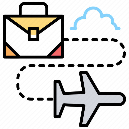 business conference, business meeting, business travel, company meeting, traveling for business icon