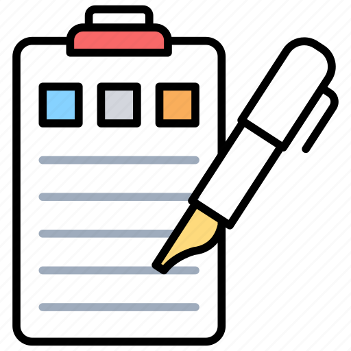 checklist data collection managing task scheduling sheet icon