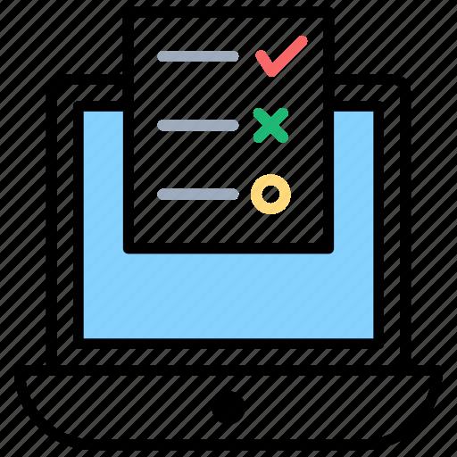 customer checklist, customer input, customer service, customer survey, feedback icon