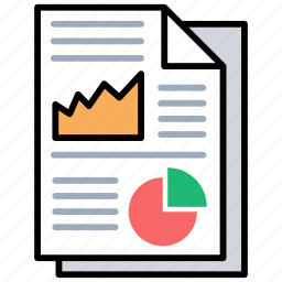 budget, business report, charts, financial report, statistics icon