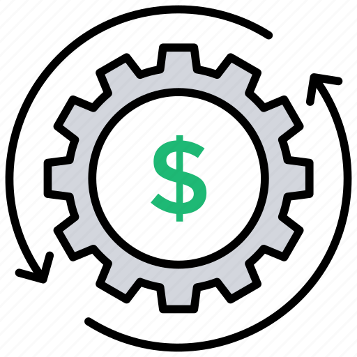 advantage, increment, profit, revenue engine, revenue generation icon