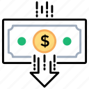 generating revenue, income, making profit, paycheck, payment icon