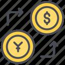currency exchange, moneyexchange, business, exchanging, dollar icon