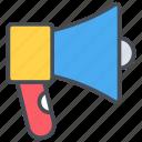 promotion, bullhorn, marketing, advertising, business, sound