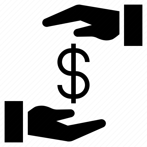 borrow money, business, cost, lending money, salary icon