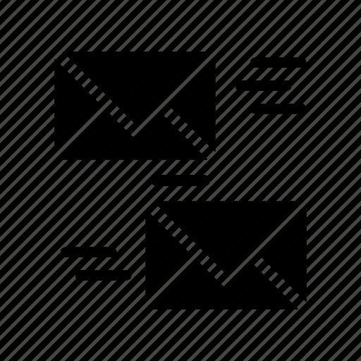envelope, letter, mail, message, sending icon