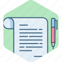 business, document, documents, notes, paper, text, write icon