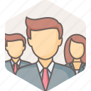 business, manager, managers, people, profile, user, users icon