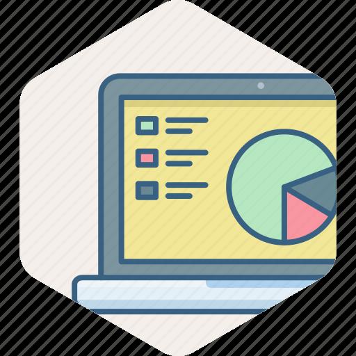 business, finance, laptop, marketing, office, presentation icon