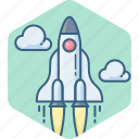 business, launch, misille, rocket, startup icon