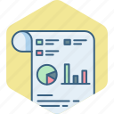 analysis, analytics, chart, graph, presentation, sheet icon