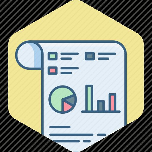 analysis, analytics, chart, graph, presentation, sheet icon