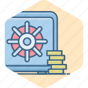 bank, finance, locker, money, safe, secure, security icon