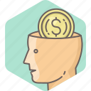 cash, currency, dollar, finance, idea, man, money icon