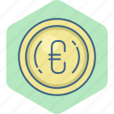 business, cash, euro, finance, money, payment, sign icon