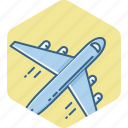 business, flight, plane, tour icon