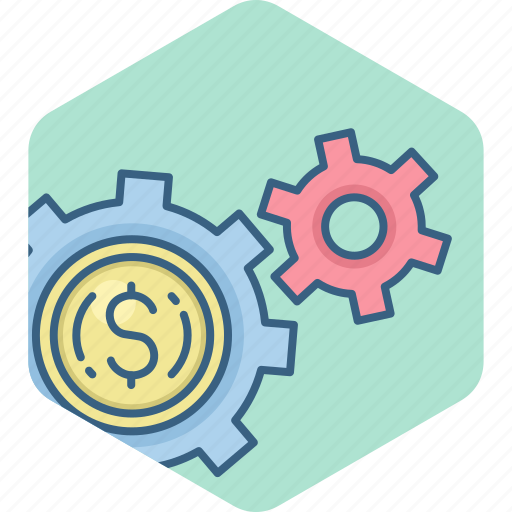 dollar, finance, management, optimization, options, payment, settings icon