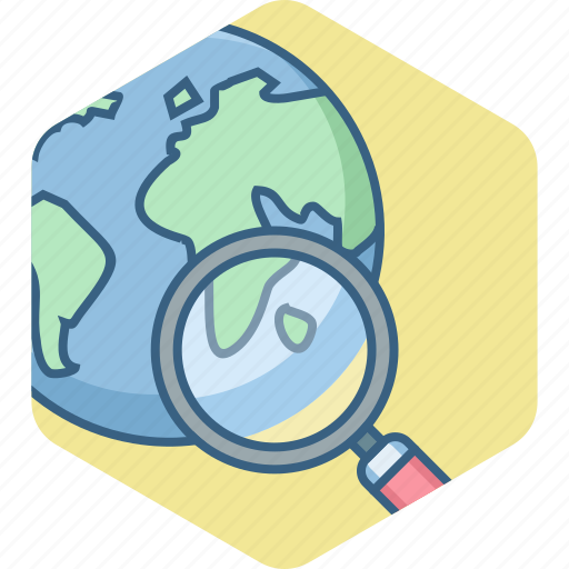 country, globe, location, map, target icon
