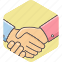 agreement, conference, contract, deal, handshake, meeting, partnership icon