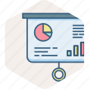 analysis, analytics, business, chart, presentation, projector icon
