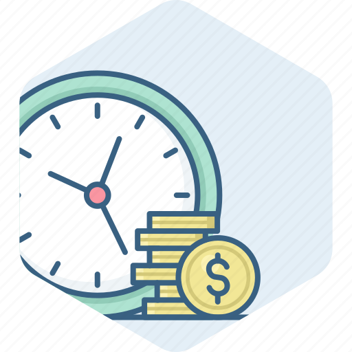 dollar, finance, guardar, money, save, savings, time icon