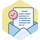 document, envelope, inbox, letter, mail, text icon
