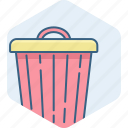 bin, close, delete, garbage, remove, trash icon