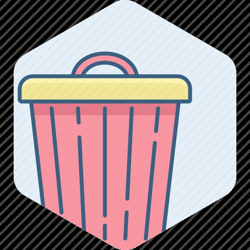 bin, close, delete, garbage, remove, trash icon