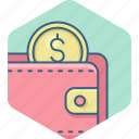 dollar, guardar, money, payment, save, savings, wallet icon
