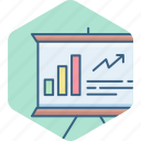 board, business, finance, graph, marketing, presentation icon