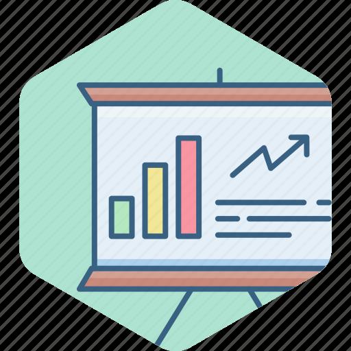 board, business, finance, graph, marketing, presentation icon