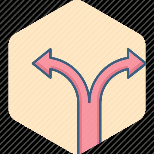 arrow, arrows, direction, location, map, path icon