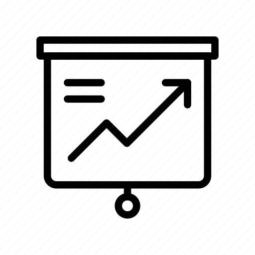 board, graph, growth, increase, presentation icon