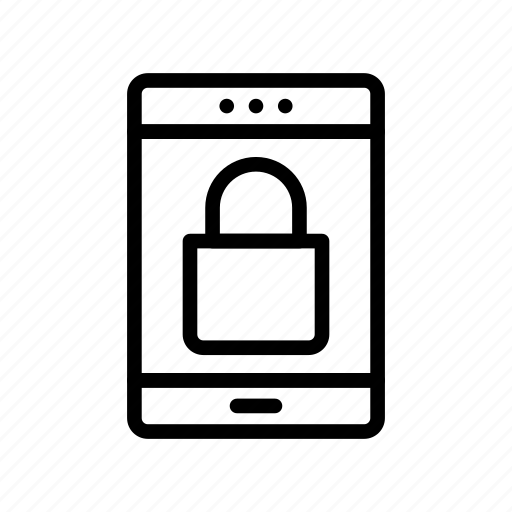 lock, mobile, protection, safety, secure icon