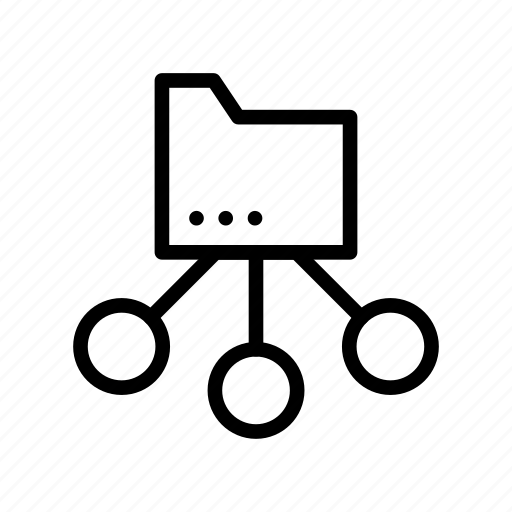 archive, document, folder, network, storage icon