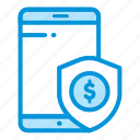 business, finance, investment, mobile, payment, secure icon