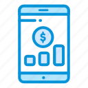 business, finance, investment, payment, smartphone icon