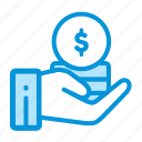 business, coin, finance, investment, money, payment icon