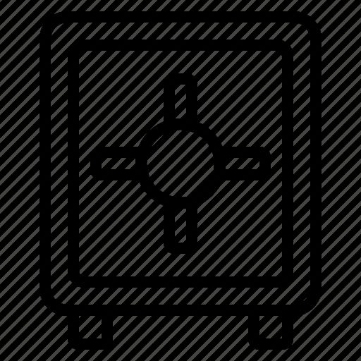 business, money safe box, safe, safe box, secure, securing, steel safe box icon