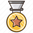 business, finance, medal, prize, winner icon