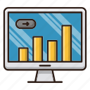 business, finance, monitor, report icon